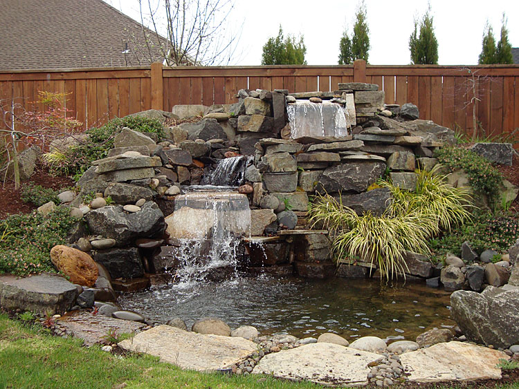 Water features installed in eugene springfield oregon for Pond water features