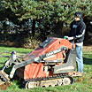 Using our efficient trencher to create a trench