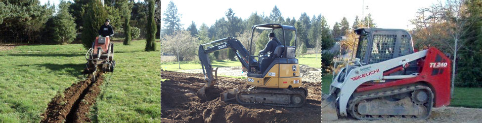 Excavation, trenching and grading services in Lane County, Oregon